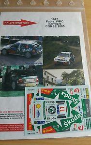【送料無料】模型車 モデルカー スポーツカーデカールシュコダファビアツールドコルスラリーラリーdecals 132 ref 1047 schwarz skoda fabia wrc tour de corse 2005 rally rally