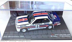 【送料無料】模型車 モデルカー スポーツカーラリーオペルアスコナモンテカルロラリーカーネットワークcar rallye 143 opel ascona 400 monte carlo 1982 rhrl rally car ixo