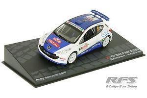 【送料無料】模型車 モデルカー スポーツカープジョーラリーサンレモ#143 peugeot 207 s2000andreucciandreussi winner rallye san remo 2010 5
