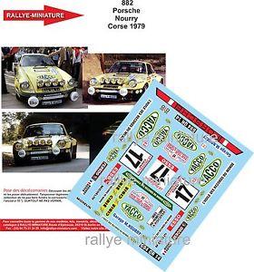 【送料無料】模型車 モデルカー スポーツカーデカールポルシェツールドコルスラリーラリーdecals 132 ref 882 porsche 911 nourry tour de corse 1979 rally rally wrc