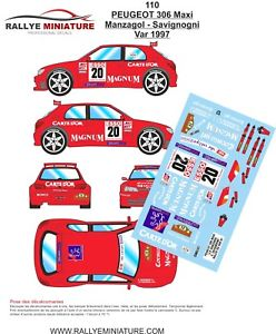 【送料無料】模型車 モデルカー スポーツカーデカールプジョーマキシラリーdecals 132 ref 110 peugeot 306 maxi manzagol rallye du var 1997 rally