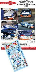 【送料無料】模型車 モデルカー スポーツカーデカールプジョーモンテカルロラリーラリーdecals 132 ref 1044 peugeot 307 wrc omv stohl rallye monte carlo 2006 rally