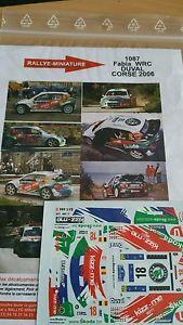 【送料無料】模型車 モデルカー スポーツカーデカールシュコダファビアデュバルツールドコルスラリーラリーdecals 132 ref 1087 skoda fabia wrc duval tour de corse 2006 rally rally