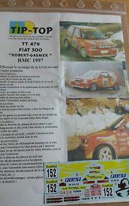 【送料無料】模型車 モデルカー スポーツカーデカールフィアットアバルトセドリックロバートモンテカルロラリーラリーdecals 132 ref 479 fiat 500 abarth cedric robert rallye monte carlo 1997 rally