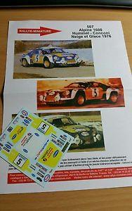 【送料無料】模型車 モデルカー スポーツカーデカールアルパインルノーラリーdecals 132 ref 507 alpine renault a110 rallye hummel snow and ice 1976 rally