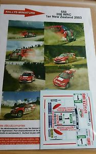 【送料無料】模型車 モデルカー スポーツカーデカールプジョーグロンホルムラリーニュージーランドラリーdecals 132 ref 550 peugeot 206 wrc gronholm rally zealand 2003 rally