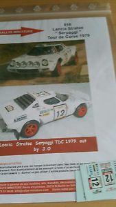 【送料無料】模型車 モデルカー スポーツカーデカールランチアツールドコルスラリーラリーdecals 132 ref 816 lancia stratos serpaggi tour de corse 1979 rally rally wrc