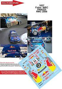【送料無料】模型車 モデルカー スポーツカーデカールシュコダファビアパニッツィラリーモンテカルロラリーdecals 132 ref 1027 skoda fabia wrc panizzi rally monte carlo 2006 rally