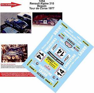 【送料無料】模型車 モデルカー スポーツカーデカールアルパインルノーツールドコルスラリーラリーdecals 132 ref 1254 alpine renault a310 beguin tour de corse 1977 rally rally