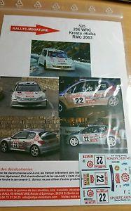【送料無料】模型車 モデルカー スポーツカーデカールプジョーガルデマイスターラリーモンテカルロラリーdecals 132 ref 525 peugeot 206 wrc kresta rallye monte carlo 2003 rally