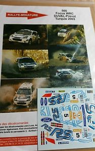 【送料無料】模型車 モデルカー スポーツカーデカールフォードフォーカスフランソワデュバルラリートルコラリーdecals 132 ref 560 ford focus wrc francois duval rally turkey 2003 rally