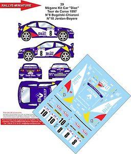 【送料無料】模型車 モデルカー スポーツカーデカールルノーメガーヌマキツールドコルスラリーラリーdecals 132 ref 39 renault megane maxi tour de corse bugalski 1997 rally rally
