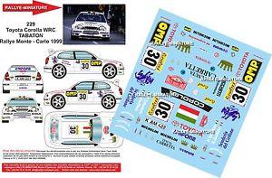 【送料無料】模型車 モデルカー スポーツカーデカールトヨタカローララリーモンテカルロラリーdecals 132 ref 229 toyota corolla wrc tabaton rally monte carlo 1999 rally