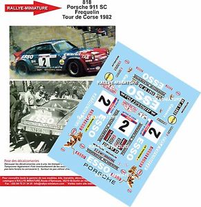 【送料無料】模型車 モデルカー スポーツカーデカールポルシェツールドコルスラリーラリーdecals 132 ref 818 porsche 911 frequelin tour de corse 1982 rally rally wrc
