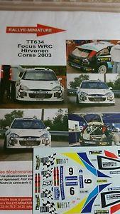 【送料無料】模型車 モデルカー スポーツカーデカールフォードフォーカスツールドコルスラリーラリーdecals 132 ref 634 ford focus wrc hirvonen tour de corse 2003 rally rally