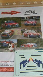 【送料無料】模型車 モデルカー スポーツカーデカールシトロエンクサラカルロスサインツラリーラリースペインdecals 132 ref 840 citroen xsara wrc carlos sainz rallye rally spain 2004
