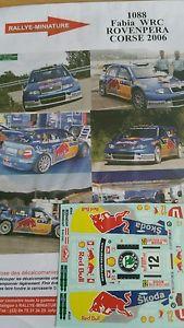 【送料無料】模型車 モデルカー スポーツカーデカールシュコダファビアツールドコルスラリーラリーdecals 132 ref 1088 skoda fabia wrc tour de corse rovanpera 2006 rally rally