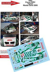 【送料無料】模型車 モデルカー スポーツカーデカールフォードフォーカスラリーモンテカルロラリーdecals 132 ref 1057 tsjoen ford focus wrc rally monte carlo 2006 rally