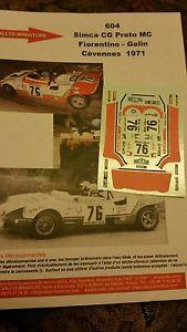 【送料無料】模型車 モデルカー スポーツカーデカールプロトフィオレンティーノラリーラリーdecals 132 ref 604 simca cg proto mc fiorentino cvennes 1971 rally rally