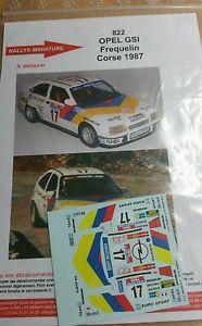 【送料無料】模型車 モデルカー スポーツカーデカールオペルラリーツールドコルスラリーdecals 132 ref 822 opel kadett gsi frequelin rally tour de corse rally 1987