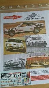 【送料無料】模型車 モデルカー スポーツカーデカールツアードフランスラリーdecals 132 ref 804 matra simca bagheera therond tour de france 1978 rally