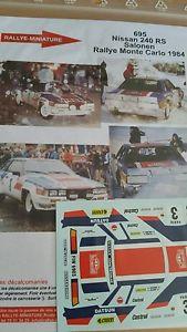 【送料無料】模型車 モデルカー スポーツカーデカールルピーラリーモンテカルロラリーdecals 132 ref 695 nissan 240 rs salonen 1984 rallye monte carlo rally wrc