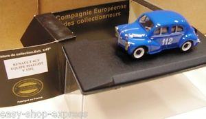 【送料無料】模型車 モデルカー スポーツカールノーラリースポーツチームcar renault 4cv rallye equipe maeghteligor cec 143 v5392