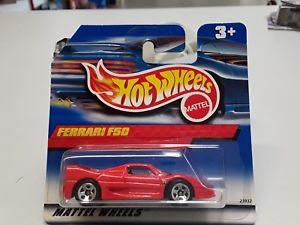 【送料無料】模型車 モデルカー スポーツカーオリジナルボックスホットホイールフェラーリhot wheels ferrari f50 in red with original box
