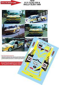 【送料無料】模型車 モデルカー スポーツカーデカールルノーターボラリーエルバラリーイタリアdecals 132 ref 1010 renault 21 turbo rallye elba rally italia 1989