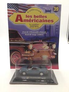 【送料無料】模型車 モデルカー スポーツカーフォードサンダーバードハードトップミニチュアカーミントブックレットford thunderbird hard top 2003 n3940 miniature car 143 mint booklet