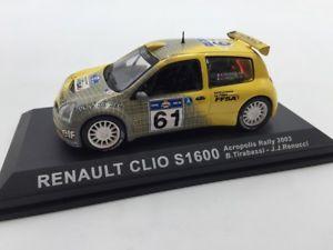 【送料無料】模型車 モデルカー スポーツカールノークリオメイソンラリーカーrenault clio s1 600 tirabassimason 2003 n1870 143 rally cars