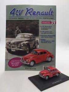 【送料無料】模型車 モデルカー スポーツカールノークーペアシェットコレクションブックレットrenault 4 cv coupe mouchiro 1953 hachette collection 143 n3945 booklet