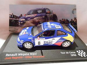 【送料無料】模型車 モデルカー スポーツカールノーメガーヌマキシラリー#ツールドコルスrenault megane maxi rally 8 tour de corse 1996