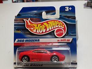 【送料無料】模型車 モデルカー スポーツカーホットホイールフェラーリモデナオリジナルボックスhot wheels ferrari 360 modena in red 21 of 26 in original box