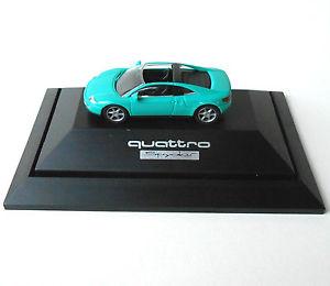 【送料無料】模型車 モデルカー スポーツカーアウディクワトロスパイダーターコイズrietze audi quattro spyder 187 h0 turquoise