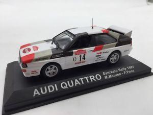 【送料無料】模型車 モデルカー スポーツカーアウディクワトロムートンポンスサンレモラリーカーaudi quattro moutonpons san remo 1981 n4270 143 rally cars
