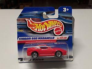 【送料無料】模型車 モデルカー スポーツカーホットレッドホイールフェラーリマラネロhot wheels ferrari 550 maranello in red from 1999 in original box