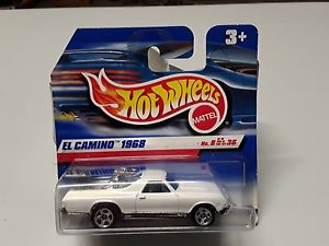 【送料無料】模型車 モデルカー スポーツカーホットホイールエルカミーノオリジナルボックスhot wheels el camino 1968 in white from 1999 in original box