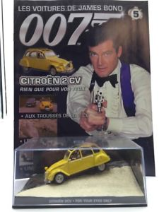 【送料無料】模型車 モデルカー スポーツカージェームズボンドcitron 2 cv just for your eyes n584 cars james bond 143 fasc