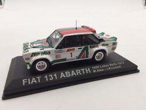 【送料無料】模型車 モデルカー スポーツカーフィアットアバルトラリーカーfiat 131 abarth alenkivimaki 1000 lakes 1979 n1670 143 rally cars