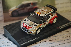 【送料無料】模型車 モデルカー スポーツカーラリーシトロエンラリードイツネットワークcar rally citroen ds3 wrc rally germany 2013 d deaf 143 ixo altaya
