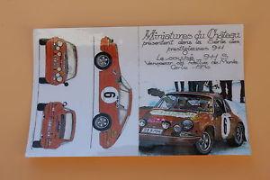 【送料無料】模型車 モデルカー スポーツカーミニチュアカードポルシェクーペモンテカルロヒコminiature postal card sl certificate 000 porsche 911 coupe s monte carlo 6 heco