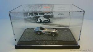 【送料無料】模型車 モデルカー スポーツカーメルセデスシルバーアローbusch 187 47004 mercedes silver arrow w196 5 square no 4 24674
