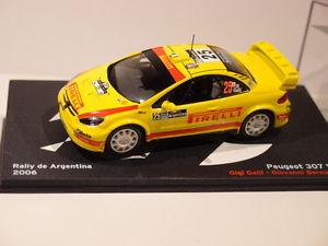 【送料無料】模型車 モデルカー スポーツカーネットワークプジョーアルゼンチンixo altaya peugeot 307 wrc argentina 2006 143