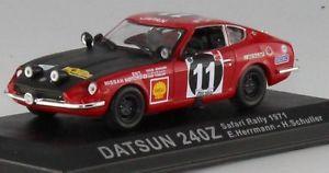 【送料無料】模型車 モデルカー スポーツカーダットサンラリー#ネットワークアルタnissan datsun 240z 240 z rally safari herrmann 11 winner winner ixo alta 143