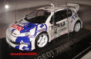 【送料無料】模型車 モデルカー スポーツカープジョー#ツールドコルスフランソワデルクールpeugeot 206 wrc 14 tour de corse 1999delecourgrataloup at 143