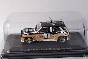 【送料無料】模型車 モデルカー スポーツカールノーマキシ#ラリーaltaya renault 5 maxi 1 rallye du var 1986 143