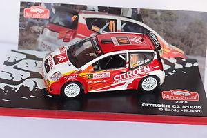 【送料無料】模型車 モデルカー スポーツカーネットワークシトロエン#モンテカルロixo altaya citroen c2 s1600 41 monte carlo 2005 143
