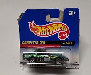 【送料無料】模型車 モデルカー スポーツカーホットオリジナルボックスホイールコルベットhot wheels corvette 80 2 of 4 in original box