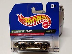 【送料無料】模型車 モデルカー スポーツカーホットホイールコルベットボックスhot wheels corvette 1963 1 of 4 in original box